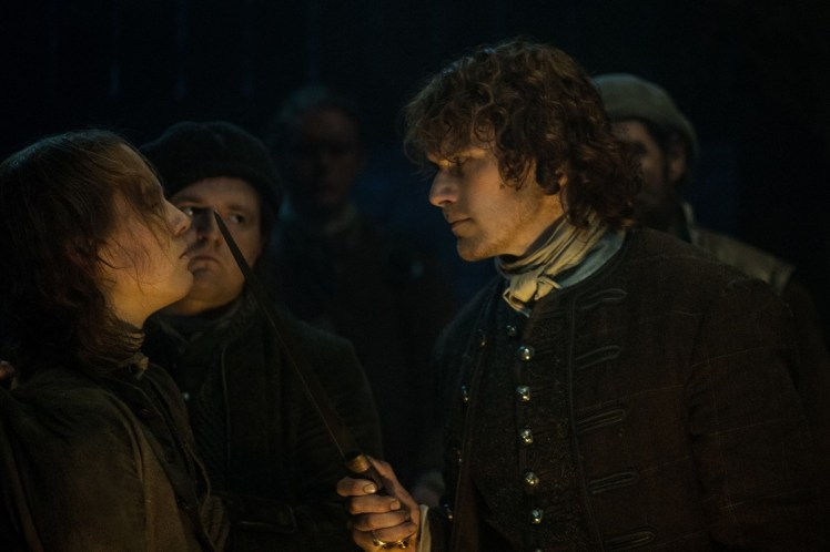 Oscar-Kennedy-as-William-Grey-Sam-Heughan-as-Jamie-Fraser-Episode-209