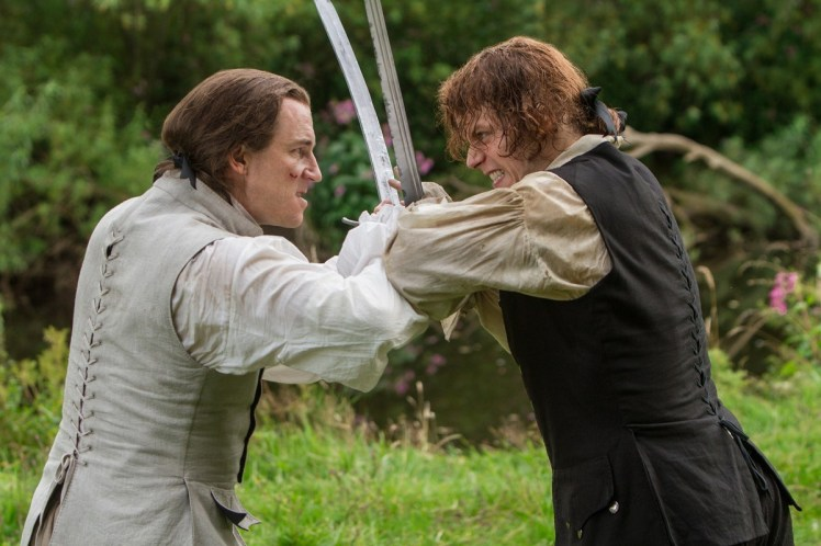 Tobias-Menzies-as-Black-Jack-Randall-Sam-Heughan-as-Jamie-Fraser-Episode-206